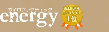 横浜の整体なら口コミ多数のカイロプラクティックenergyへ! ロゴ
